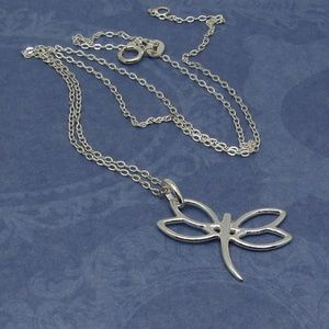 Jewelry - .925 Sterling Silver Dragonfly Charm with chain